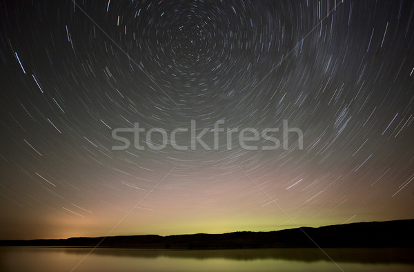 Nuit coup star lac saskatchewan Canada Photo stock © pictureguy