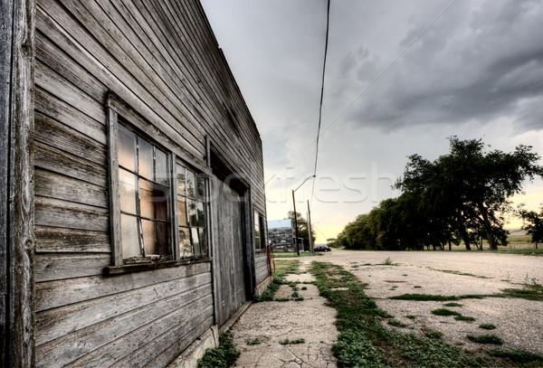 古い 捨てられた 建物 サスカチュワン州 カナダ 農村 ストックフォト © pictureguy