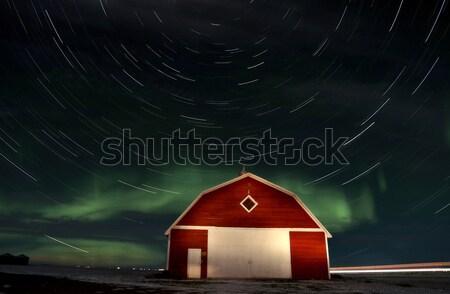 星 1泊 写真 サスカチュワン州 カナダ 暗い ストックフォト © pictureguy