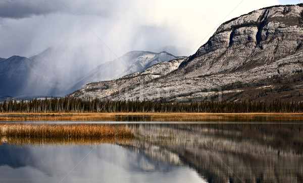 Stock photo: Snow Clouds in the Rocky Mountains of Alberta
