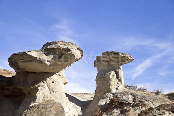 Stock photo: Badlands Alberta  hoo doo