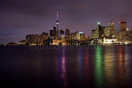 Noite tiro toronto linha do horizonte Canadá Foto stock © pictureguy