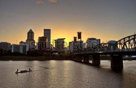 Sunset Portland Oregon Stock photo © pictureguy