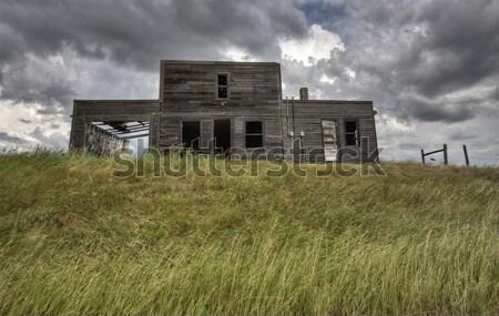 заброшенный Саскачеван Канада закат прерия мнение Сток-фото © pictureguy