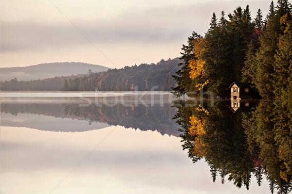 Tó ősz napfelkelte tükröződés Ontario színek Stock fotó © pictureguy