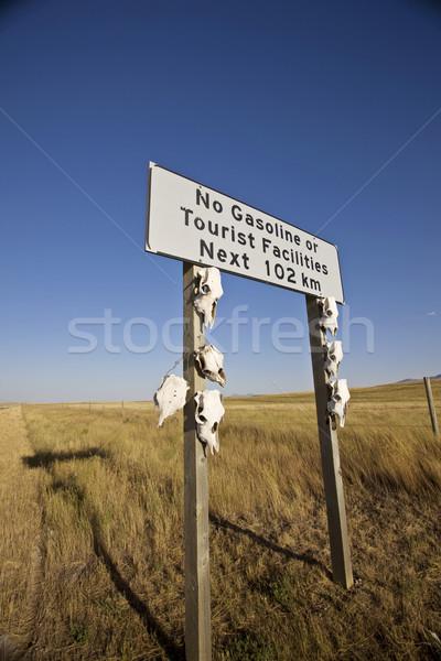 No Gas Sign near Montana in Alberta Stock photo © pictureguy