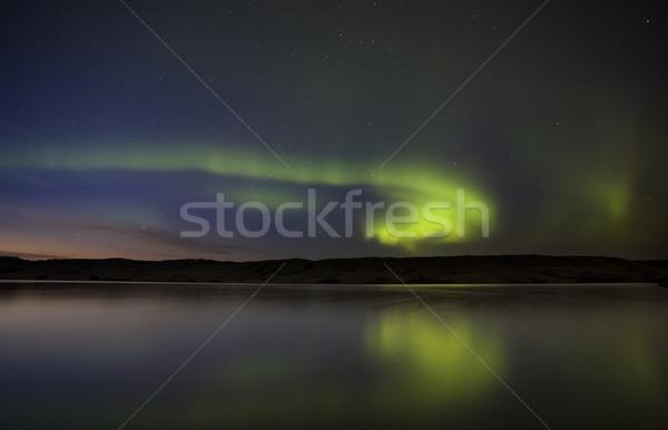 Night Shot Northern Lights Stock photo © pictureguy