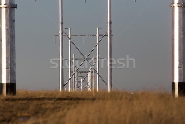 Ezüst fém távvezeték Saskatchewan Kanada technológia Stock fotó © pictureguy