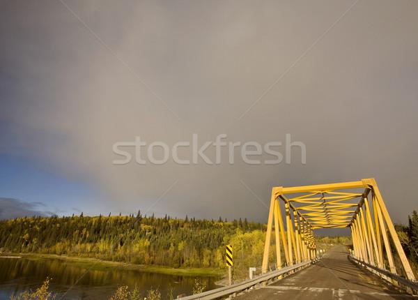 Yellow Bridge in Northern Manitoba Canada Stock photo © pictureguy