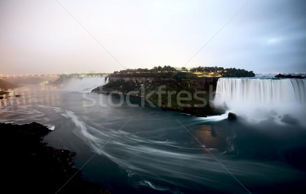Niagara Falls dag ontario New York Canada USA Stockfoto © pictureguy