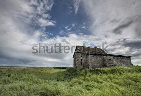 Stock photo: An old Saskatchewan homestead