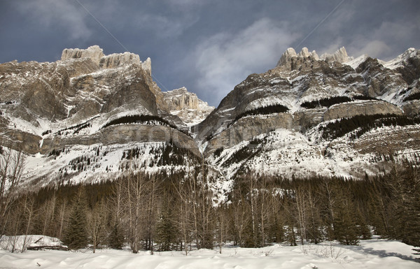 Bergen winter Canada natuur landschap schoonheid Stockfoto © pictureguy
