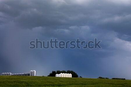 Saskatchewan tempesta costruzione cielo blu cielo Foto d'archivio © pictureguy