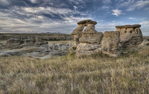Hoodoo Badlands Alberta Canada Stock photo © pictureguy