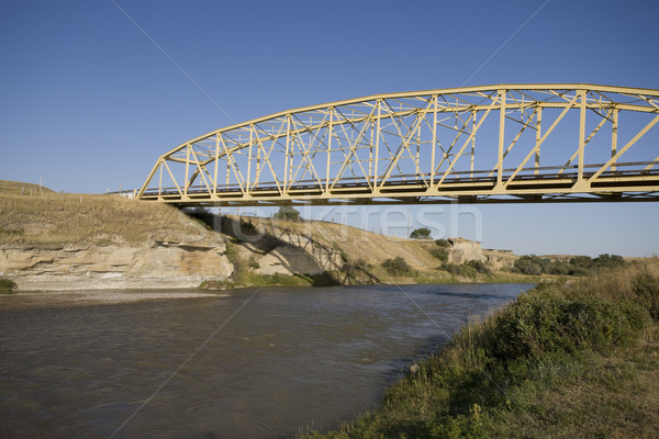 Milk River Alberta Badlands Stock photo © pictureguy