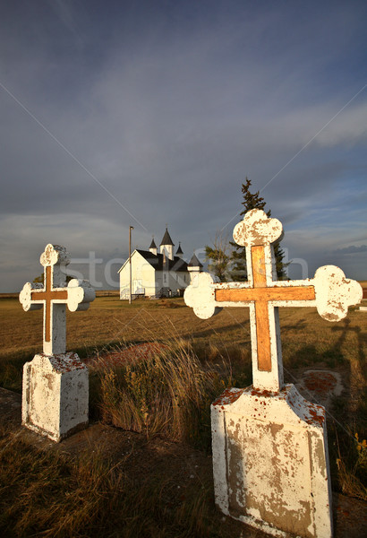 Old cemetery grave stones at Saint Mary's Orthodox Church Stock photo © pictureguy