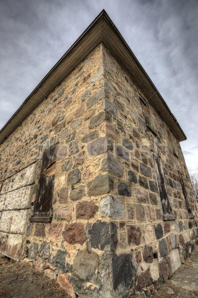 捨てられた 石 建物 サスカチュワン州 カナダ テクスチャ ストックフォト © pictureguy