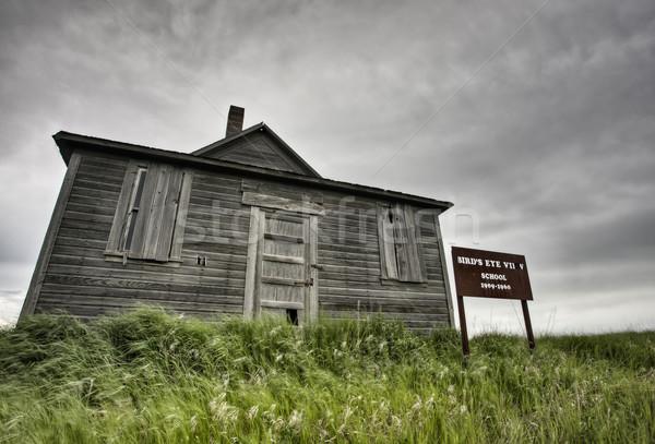 捨てられた ファーム 嵐雲 空 建物 自然 ストックフォト © pictureguy