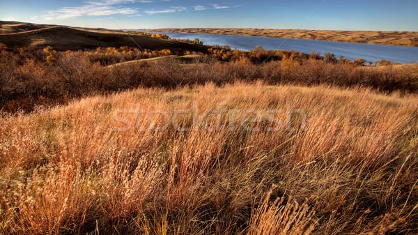 Autunno view saskatchewan pound lago acqua Foto d'archivio © pictureguy
