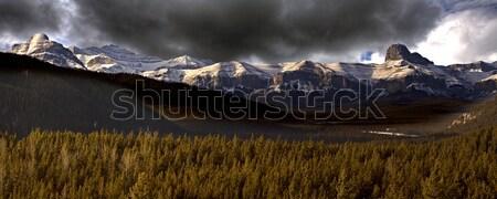 Bergen Canada panoramisch onweerswolken natuur Stockfoto © pictureguy
