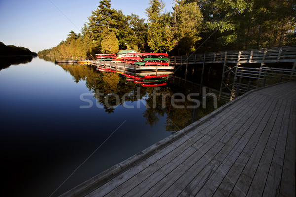 Canoe Rental Lake Huron Stock photo © pictureguy