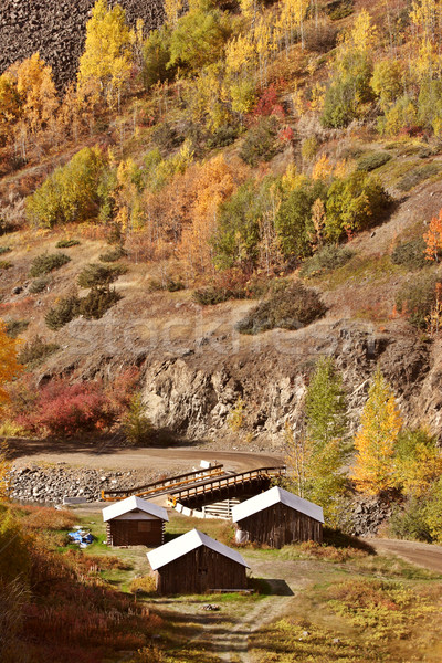 Native settlement along Tahltan River in British Columbia Stock photo © pictureguy