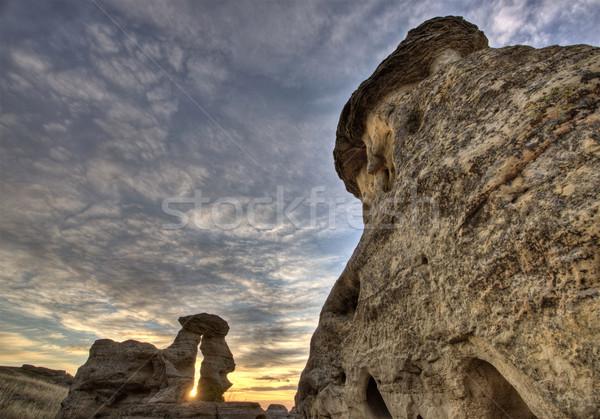 カナダ 書く 石 公園 自然 岩 ストックフォト © pictureguy