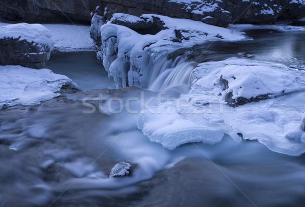 Codo arroyo Canadá invierno naturaleza hielo Foto stock © pictureguy