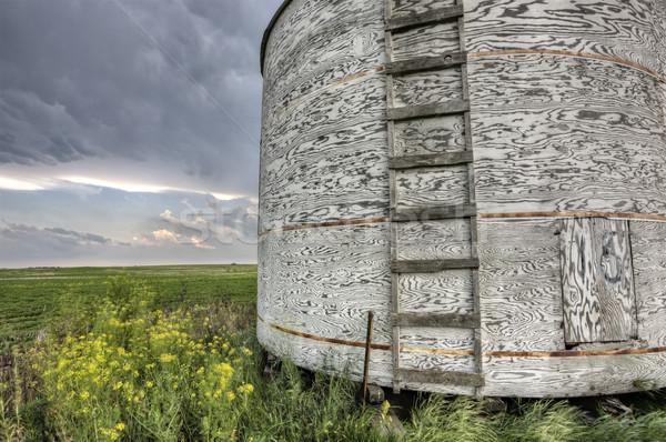 Saskatchewan vecchio legno cielo natura Foto d'archivio © pictureguy