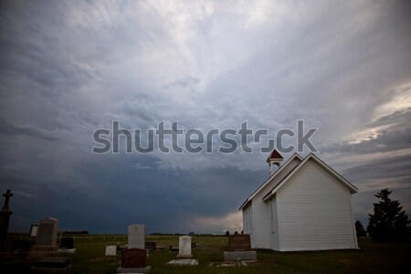 Préri viharfelhők baljós időjárás Saskatchewan Kanada Stock fotó © pictureguy