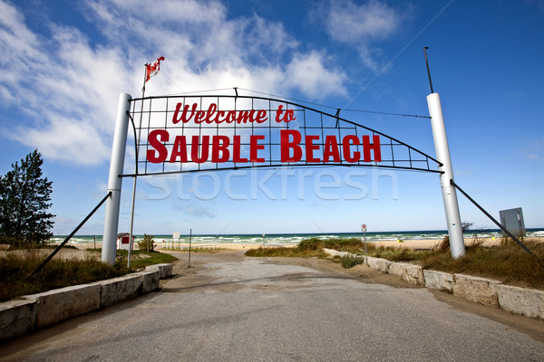 Sauble Beach Sign Stock photo © pictureguy