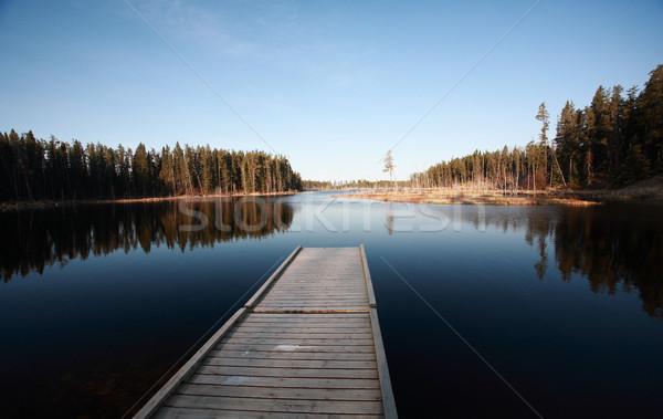 Doca norte lago água paisagem árvores Foto stock © pictureguy