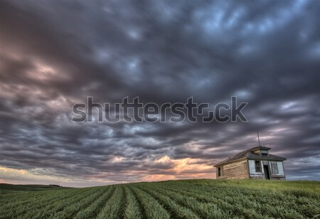 Old School house and sunset Stock photo © pictureguy
