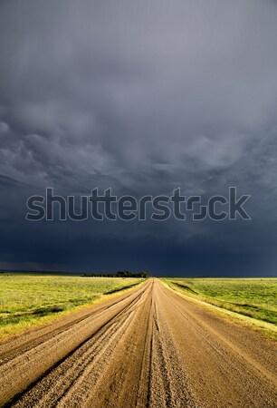 Onweerswolken saskatchewan hemel wolken weg Stockfoto © pictureguy