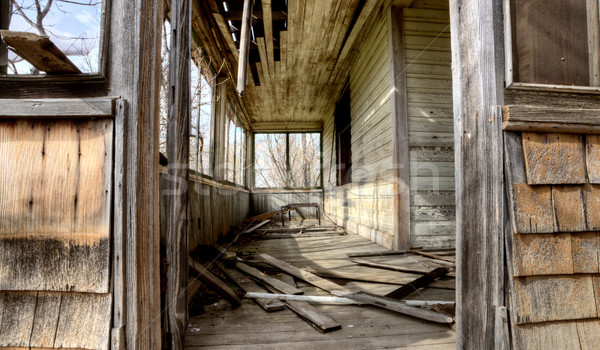 Interior abandoned house prairie Stock photo © pictureguy