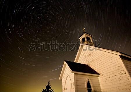 Templom éjszaka lövés csillag Saskatchewan Kanada Stock fotó © pictureguy