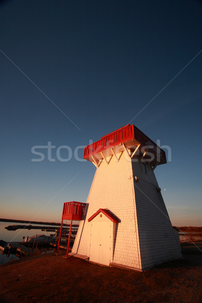 Lighthouse and marina at Hecla in Manitoba Stock photo © pictureguy