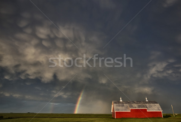 Old Red Barn and Storm Stock photo © pictureguy
