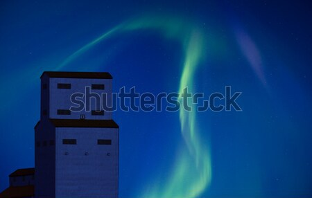 Northern Lights and Grain Elevator Stock photo © pictureguy