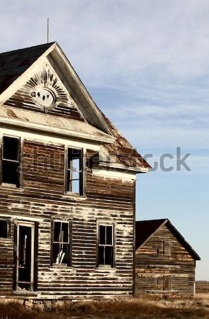 Abandoned Farm House Great Horned Owl Stock photo © pictureguy