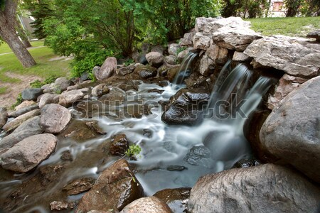 водопада полумесяц парка лося челюсть Саскачеван Сток-фото © pictureguy