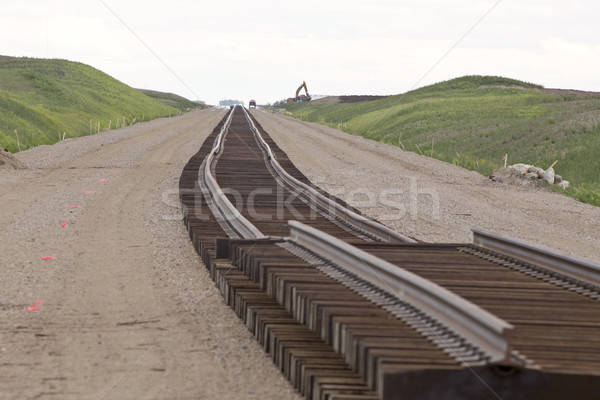 Buildind a railroad Track Stock photo © pictureguy