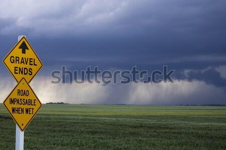 Saskatchewan prateleira nuvem aviso Foto stock © pictureguy