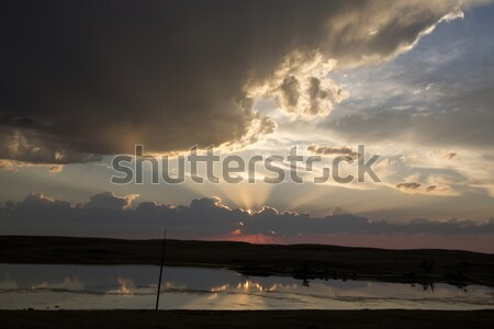 Saskatchewan cielo natura estate bella Foto d'archivio © pictureguy