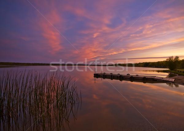 Sunrise on Northern Lakes Manitoba Stock photo © pictureguy