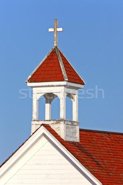 Anglican Church Wooden Cross Saskatchewan Stock photo © pictureguy