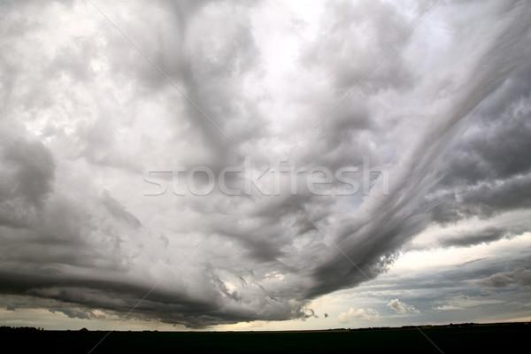 Nubes de tormenta saskatchewan plataforma nube siniestro alerta Foto stock © pictureguy