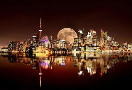 ночь выстрел Торонто Skyline Онтарио Канада Сток-фото © pictureguy