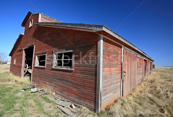 Vecchio abbandonato saskatchewan Canada cielo erba Foto d'archivio © pictureguy