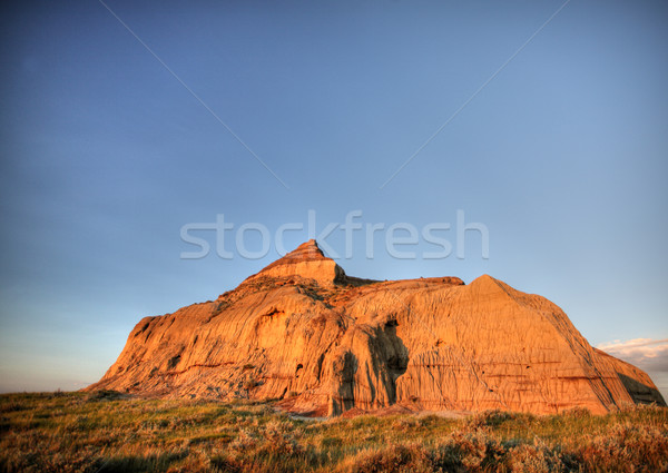 Castle Butte in Big Muddy Valley in Southern Saskatchewan Stock photo © pictureguy